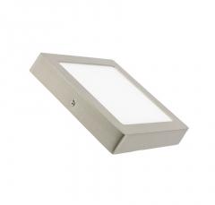 Plafonnier LED Carré 18W Argentée