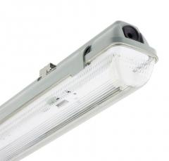 Boitier Vide Étanche 1 tube LED 1500mm Connexion Latérale
