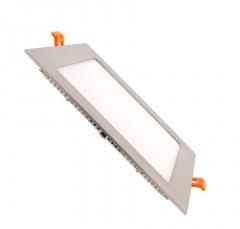 Dalle LED Carrée Extra Plate 15W Cadre Argenté