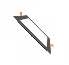 Dalle LED Carrée Extra Plate 12W Cadre Noir