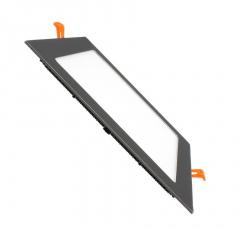 Dalle LED Carrée Extra Plate 18W Cadre Noir