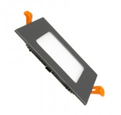 Dalle LED Carrée Extra Plate 6W Cadre Noir
